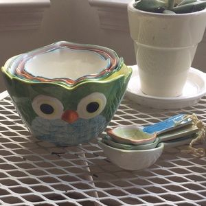 Set of Owl Measuring Cups and Spoons